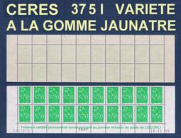 BAS DE FEUILLE DATE Du TVP VERT GOMME JAUNATRE LAMOUCHE ITVF AU PEU COURANT TYPE I - MAURY 3715 I - 2004-08 Marianna Di Lamouche