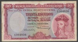 Ref. 4251-4754 - BIN PORTUGUESE INDIA . 1959. PORTUGUESE INDIE 30 ESCUDOS 1959 - Portugal