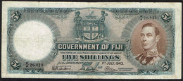 Ref. 4243-4746 - BIN FIJI . 1943. 5 SHILLINGS FIJI 1943 - Fiji