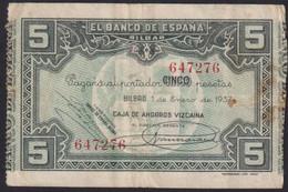 Ref. 3460-3886 - BIN SPAIN . 1937. BANCO BILBAO 5 PESETAS 1937 - Non Classificati