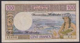 Ref. 2251-2674 - BIN NEW HEBRIDS . 1972. NOUVELLES HEBRIDES 100 FRANCS 1972 - Other - Oceania