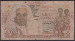 Ref. 1817-2240 - BIN MARTINICA . 1946. MARTINICA 100 FRANCS LA BOURDONNAIS MARTINIQUE 1946 - Guyana Francese