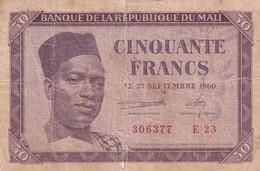 Ref. 1754-2177 - BIN MALI . 1960. MALI 50 FRANCS 1960 - Mali