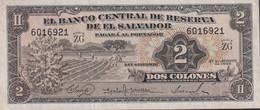 Ref. 1318-1740 - BIN EL SALVADOR . 1958. EL SALVADOR 2 COLONES 1958 - 1960 - El Salvador