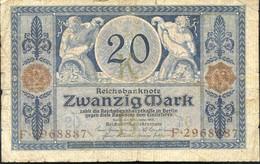 Ref. 1017-1439 - BIN GERMANY . 1915. ALEMANIA GERMANY 20 MARK 1915 - Zonder Classificatie