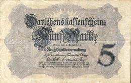 Ref. 1007-1429 - BIN GERMANY . 1914. GERMANY 5 MARK 1914 - Non Classificati
