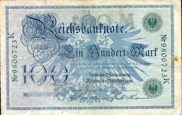 Ref. 999-1421 - BIN GERMANY . 1908. ALEMANIA GERMANY 100 MARK 1908 - Zonder Classificatie