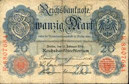 Ref. 997-1419 - BIN GERMANY . 1914. ALEMANIA GERMANY 20 MARK 1914 - Zonder Classificatie