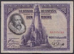 Ref. 408-4439 - BIN SPAIN . 1928. 100 PESETAS 1928 CERVANTES. 100 PESETAS 1928 CERVANTES - 100 Pesetas