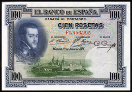 Ref. 225-743 - BIN SPAIN . 1925. 100 Pesetas Alfonso XIII 1st July 1925. 100 Pesetas Alfonso XIII 1 De Julio De 1925 - 100 Pesetas