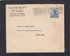 LETTRE AVEC NO 598 POUR PARIS. - Briefe U. Dokumente