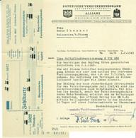 """München 1949 Rechnung Deko Mit Aptierter Reichspostzahlkarte """" Allianz Bayerische Versicherungsbank """" """" - Banco & Caja De Ahorros"""