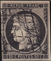 France    .  Y&T    .   3  (2 Scans)    .     O    .  Oblitéré - 1849-1850 Ceres