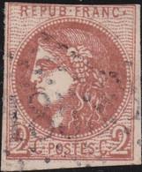France    .  Y&T    .   40 B  (2 Scans)        .   O     .    Oblitéré - 1870 Bordeaux Printing