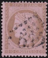 France    .  Y&T    .   58       .   O     .    Oblitéré - 1871-1875 Ceres