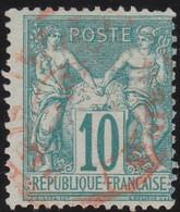 France    .  Y&T    .   65      .   O     .    Oblitéré - 1876-1878 Sage (Tipo I)