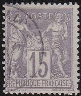 France    .  Y&T    .   66      .   O     .    Oblitéré - 1876-1878 Sage (Type I)