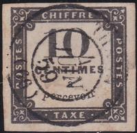 France    .  Y&T    .   Taxe 1  (2 Scans)          .   O     .    Oblitéré - 1859-1955 Usados