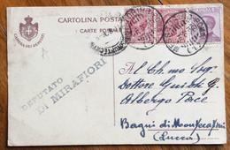 DEPUTATO GASTONE DI MIRAFIORI GUERRIERI CARTOLINA CAMERA DEI DEPUTATI AUTOGRAFA  CON MESS.TORINO-ROMA (1) 16/8/26 - Handtekening