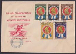 CUBA FDC 1962. III ANIVERSARIO DEL TRIUNFO DE LA REVOLUCIÓN. EDIFIL 905/09. CACHE LILY - FDC