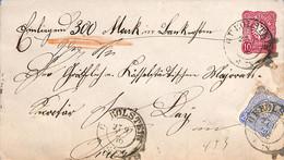 Allemagne Reich 1876  Lettre De Gerolstein   (G0416) - Brieven En Documenten