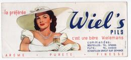 BUVARD - Bière WIELEMANS - WIEL'S PILS   *23 Cm X 10* - Food