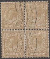 """Great Britain - Gran Bretagna 1924 Re Giorgio V UnN""""170 Blkx4 (o) Vedere Scansione - Usati"""