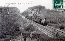 44  PONTCHATEAU  PASSAGE DU TRAIN DANS LA TRANCHEE DE GRENEHO - Pontchâteau
