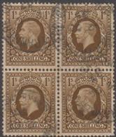 Great Britain - Gran Bretagna 1934 Re Giorgio V UnN°197 Blkx4 (o) Vedere Scansione - Usati