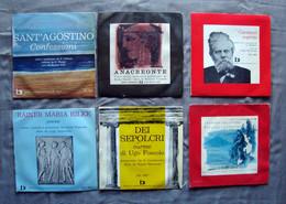 6 Dischi Vinile S Agostino Anacreonte Carducci Rilke Foscolo Fogazzaro - Collezioni