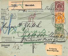 Allemagne Reich 1896 Lettre De Herrnhut  (G0437) - Brieven En Documenten