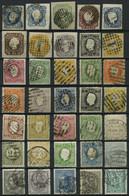 SAMMLUNGEN, LOTS O, *, Fast Nur Gestempelte Partie Verschiedener Mittlerer Werte Bis 1895, Feinst/Pracht, Mi. 2600.- - Collections