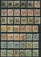PORTOMARKEN P 1-10A,B O, 1874/77, Gestempelte Sammlung Lösen Von 134 Werten Mit Farbnuancen, Besseren Stempeln Etc., Fas - Oblitérés