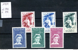 "Maroc, 1959,année Complète,TP N°390 à 395 "" NEUFS **;MNH;Morocco,Marruecos - Marokko (1956-...)"