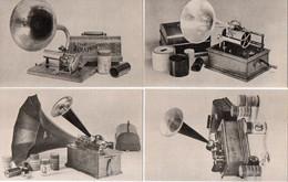 Phonographe - 4 CP - Colombia Graphophone 1898-Pathé Duplex 1900-Edison Home C.-Edison D 19  (120381) - Musique Et Musiciens