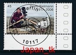 GERMANY Mi. Nr. 3318 100. Geburtstag Von Heinz Sielmannn - ESST Berlin - Eckrand Unten Rechts - Used - Gebruikt