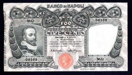 Banconota 100 Lire 1914 Banco Di Napoli - 100 Lire