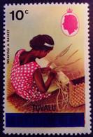 Tuvalu Iles Gilbert Islands 1976 Vannerie Weaving Surchargé Overprinted Yvert 11 ** MNH - Tuvalu