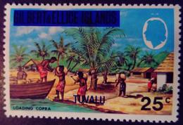 Tuvalu Iles Gilbert Islands 1976 Copra Surchargé Overprinted Yvert 14 ** MNH - Tuvalu