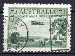 "AUSTRALIE - (Confédération) - 1929 - P.A. - N° 2 - 3 P. Vert - (Biplan ""DH 66"" Et Paysage) - Gebraucht"