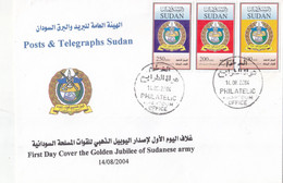 Fdc`s SUDAN 2004 SC-567 569 ARMY 50 YEARS ANNIVERSARY #11 - Soedan (1954-...)