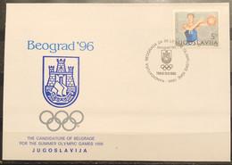 Yugoslavia, 1990, Belgrade 's Candidacy For The 1996 Olympic Games,FDC - Cartas