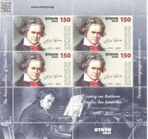 2020. Kyrgyzstan, Ludwig Van Beethoven, Composer, Sheetlet, Mint/** - Kyrgyzstan