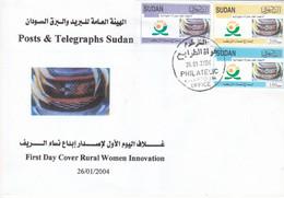 Fdc`s SUDAN 2004 SC-564 566 SUDAN RURAL WOMEN #12 - Soedan (1954-...)