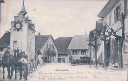 Courrendlin JU, Epicerie Mercerie Louis Mouillet, Attelage De 2 Chevaux (1019) - JU Jura