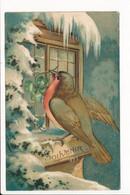 Carte Gaufrée En Relief Fantaisie Souvenir ( Oiseau / Paysage D'hiver / Trèfle ) ( Recto Verso ) - Other