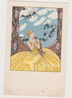 Cpa Femme( Art Deco) Edition Majestic - Moda