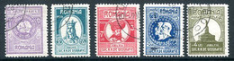 ROMANIA 1927 Geographic Society Used.  Michel 303-07 - Usado