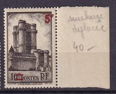 FRANCE - 5 F. Sur 10 F. Neuf Avec Surcharge Déplacée - Abarten: 1941-44 Ungebraucht
