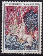 FRANCE - Dame à La Licorne Avec Décalage Du Rouge Vers Le Bas - Variétés: 1960-69 Oblitérés